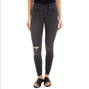 Madewell Mid-Rise Skinny Jeans 23 Distressed Gray